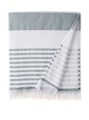 Nine Space Carmel Stripe Beach Towel, Green