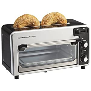 Black & Grey Colored Toastation Toaster Oven Model Number 22720 By Hamilton Beach