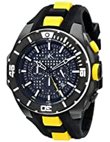 Adee Kaye Men's AK6367-M/YL Axes Collection Analog Display Japanese Quartz Yellow Watch