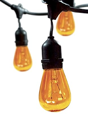 Bulbrite Celebrate Ceramic 15-Light Indoor/Outdoor String, Amber