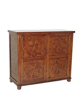 Charleston Bamboo Cabinet, Walnut