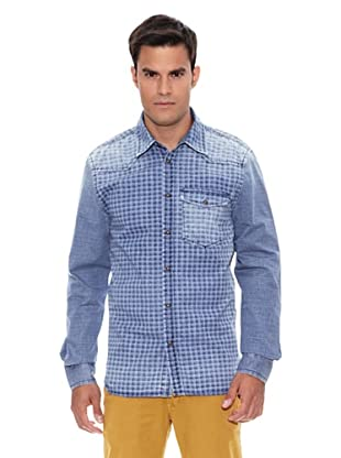 Pepe Jeans London Camisa Luton (Azul Índigo)