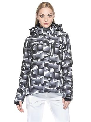 F.lli Campagnolo Damen Skijacke Stretch Print (schwarz/grau)