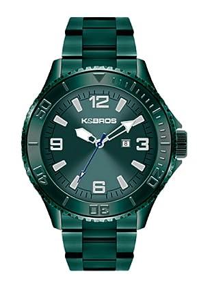 K&BROS 9564-3 / Reloj de Caballero  con brazalete metálico Negro