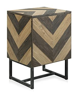 Shine by S.H.O Verdi End Table (Antique Black/Old Elm)
