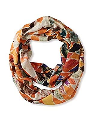 Saachi Women's Watercolor Ikat Scarf, Rust Multi