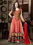 Shraddha Kapoor Red Net Anarkali Suit