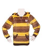 T-Shirt - Yellow & Brown Stripes