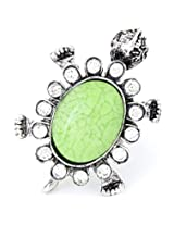 Cinderella Collection by Shining Diva Green & Silver CZ Ring for Women 6868r
