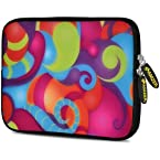 Amzer 7.75-Inch Designer Neoprene Sleeve Case Cover Pouch for Tablet, eBook and Netbook - Dancing Colours (AMZ5179077)