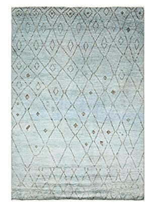 nuLOOM One-of-a-Kind Hand-Knotted Campbell Rug, Light Blue, 8' x 10' 1