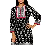 Black Ethnic Pure Cotton Kurti