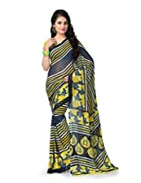 Vaamsi Women's Faux Georgette With Blouse Piece Saree (Vega3113 _Yellow )