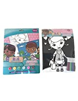 Doc Mcstuffins Craft Bundle Two Items One Pack Paint Set One Velvet Marker Sheet