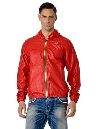 K-WAY Chaqueta piel Jacques (Rojo)