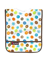 Rib-Neck Waterproof Bib Infant, White Circles