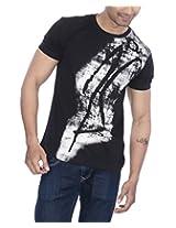PS Men's Jade Black C-Neck T-Shirt (Medium)