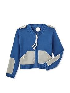Kicokids Boy's Zip-Front Cardigan (Dauphin)