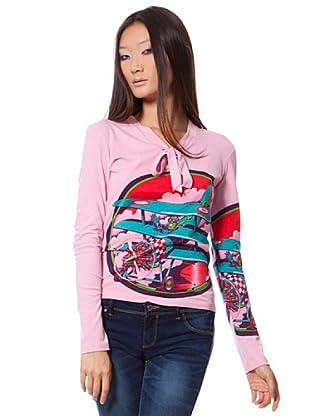 Custo Camiseta Rosa 42 (L)