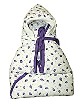 Hooded Cherry Wrapper - Lavender
