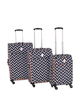 Jenni Chan Aria Madison 3-Piece Luggage Set, Blue