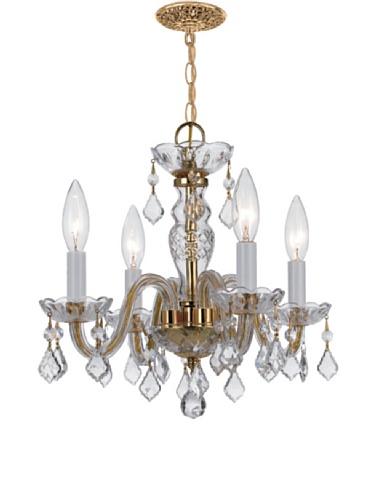 Gold Coast Lighting Kensington Chandelier, Polished Brass