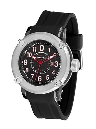 ARMAND BASI A0691G04 - Reloj de Caballero movimiento de cuarzo con correa de caucho Negra