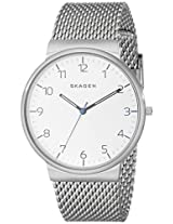 Skagen Ancher Analog Silver Dial Men's Watch - SKW6163