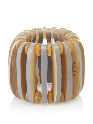 MARNI Women's Wooden Stretch Bracelet (Buttercream)