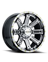 Gear Alloy 20x9 PVD Chrome Switchback Wheel 8x165.1 -12 Offset Rim