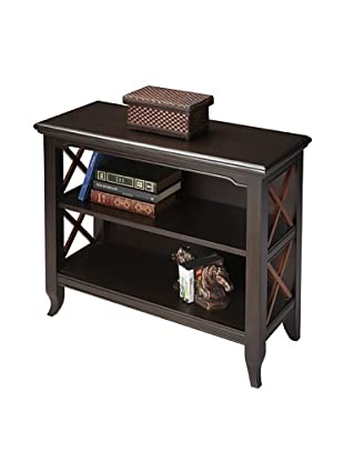 Butler Specialty Company Rubbed Black and Cherry Low Bookcase