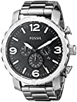 Fossil Nate Chronograph Black Dial Men's Watch - JR1353