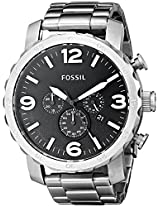 Fossil Nate Chronograph Black Dial Men's Watch - JR1353
