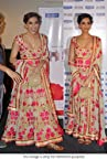 Bollywood Replica Sonam Kapoor Pure Georgette Suit In Beige and Pink Colour WA0038