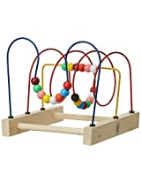 Skillofun Wooden Beads Trail - Junior Jumbo Spiral, Multi Color