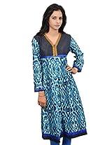Amour Cotton Blue Color Anarkali Kurta - 438-Blue-M