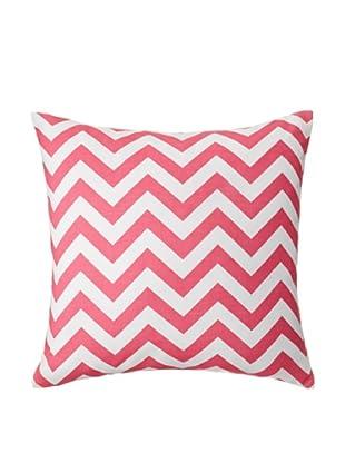The Pillow Collection Xayabury Zig-Zag Decorative Pillow, Candy Pink, 18