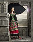 Bhuwal Fashion Black Faux Georgette Long Anarkali Salwar Suit