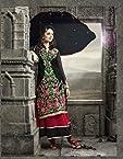 Semi Stitched Bhuwal Fashion Black Faux Georgette Long Anarkali Salwar Suit