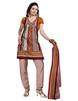 Varshia Womens Synthetic Salwar Dress Material (Vp20 -Rust -Free Size)