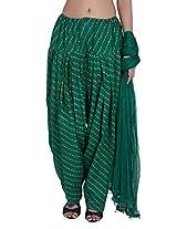 Jaipur Kala Kendra Women's Patiala Salwar Dupatta Set (10013_Green_Large)