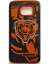 Forever Collectibles - Licensed NFL Cell Phone Case for Samsung Galaxy S6 - Retail Packaging - Chicago Bears