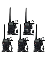 5 Pack BaoFeng UV-5R 136-174/400-480 MHz Dual-Band Two Way Radio, MakeTheOne