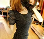 Short Sleeve Korean Round Neck T-Shirt Black