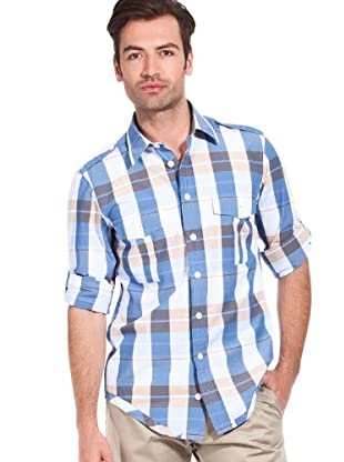 Hugo Boss Camisa Ezzer (azul / beige)