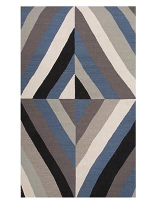 Jaipur Rugs Flat-Weave Wool Rug, Liquorice/White, 5' x 8'