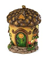 Handpainted Weather-Resistant Fairy Village Woodland House Multi Colored AD