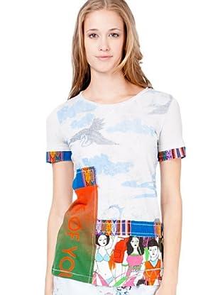 Custo Camiseta Ine (Gris Perla / Azul)
