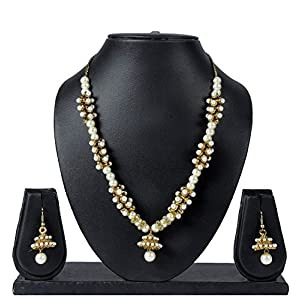 Luxor Beads Nad Pearls Necklace Set NK-1603