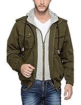 Spykar Men Cotton Olive Jacket (XXL)